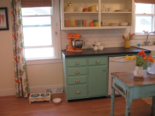 49714 0 8 0195 eclectic kitchen Retro Revival