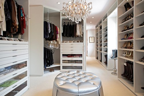 The Classic White Closet - Hancock Park, CA Residence contemporary closet