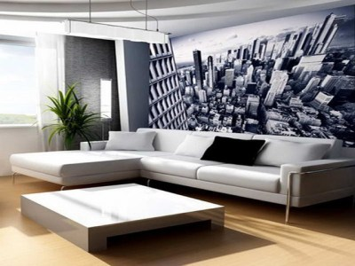 Wall Decor Ideas for Living Room With Mega City Themes - Modern - Wallpaper - sydney - by BannerBuzz