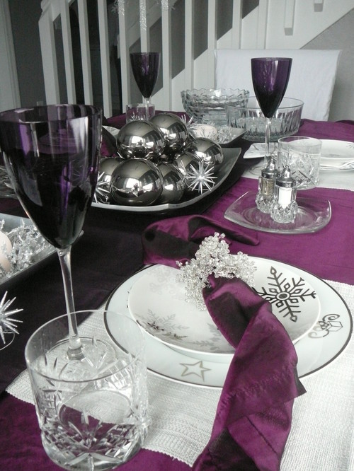 modern dining room Creative Christmas Table Settings