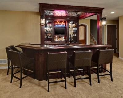 Minnetrista Basement - Traditional - Home Bar ...