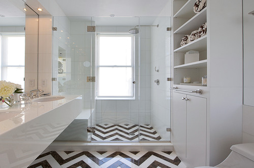 The Bath Of Month Featured In Same Issue House Beautiful Gave Tile Lovers Another Treat With This Fantastic Manhattan Master Bathroom Designed By