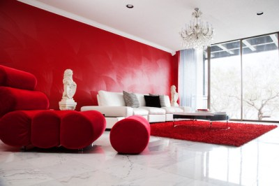 Red Room - Dinah Capshaw Interior Designs - Modern ...