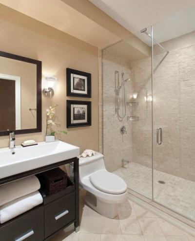 Crema Marfil Marble tiles,Tumbled Marble tiles, Limestone tile, transitional bath, neutral bath
