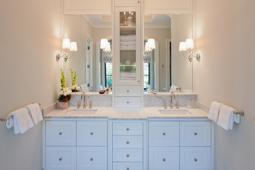 transitional bathroom Bathroom Lighting Ideas