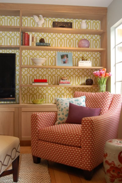 Where can I get the wallpaper?.....behind the bookshelves??