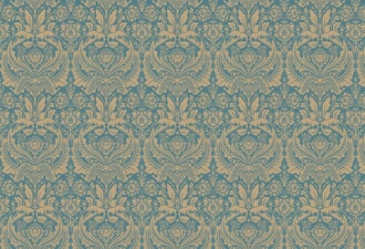 Desire Wallpaper, Teal and Gold traditional-wallpaper