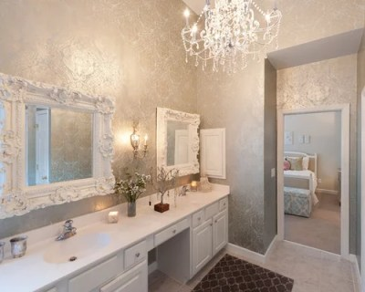 Bathroom Wallpaper Design Ideas & Remodel Pictures   Houzz