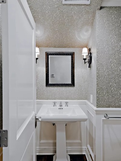 Wainscoting With Wallpaper Above Home Design Ideas, Pictures, Remodel and Decor