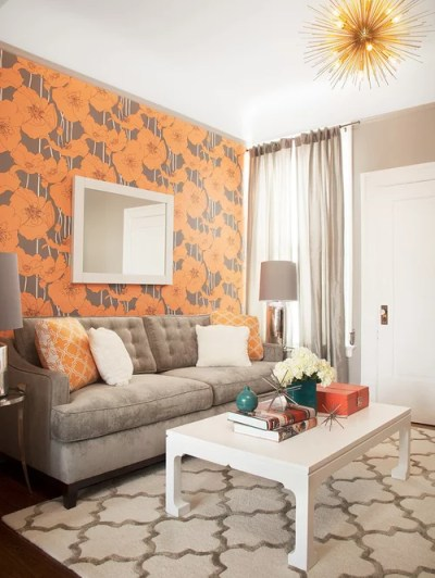 Living Room Wallpaper Border Ideas Ideas, Pictures, Remodel and Decor