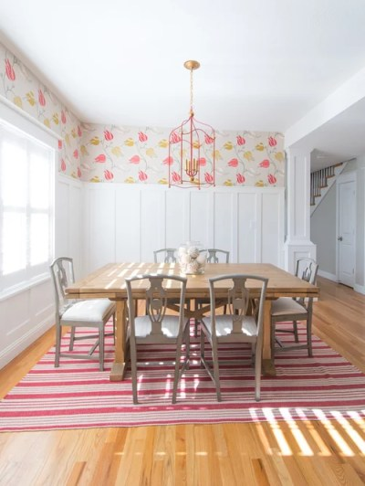 Wainscoting With Wallpaper Above | Houzz