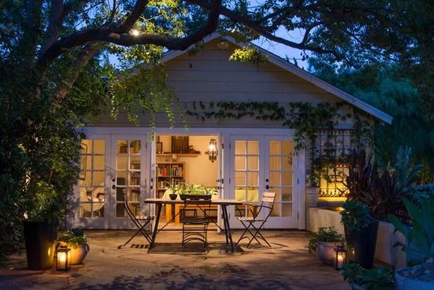 transitional patio by june scott design cafe lighting ideas l