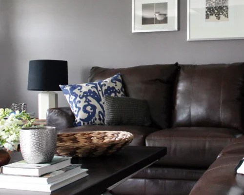gray walls brown furniture grey o