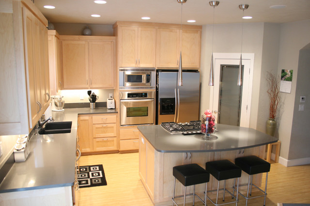 Exellent Maple Cabinets Kitchen Modern With Intended Decorating Ideas