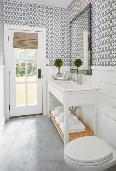 Is that wallpaper or tile above the shiplap?