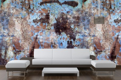 Peeling Paint Reusable Peel & Stick Wallpaper- YOUR WALLS, UNDERCOVER - Wallpaper - boston - by ...