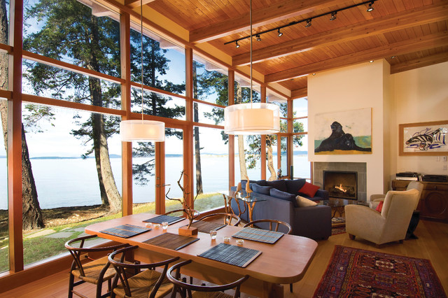Booklovers House | Sidney Island contemporary-living-room