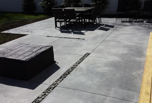 Modern Concrete Patio Designs Long Island Modernpatio E Throughout Ideas