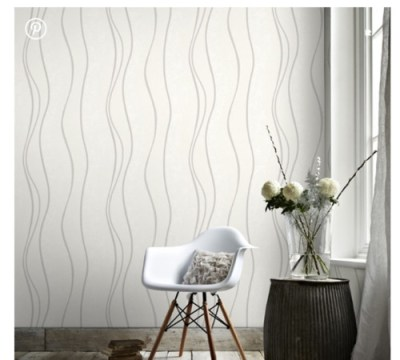 White walls with wallpaper accent wall?