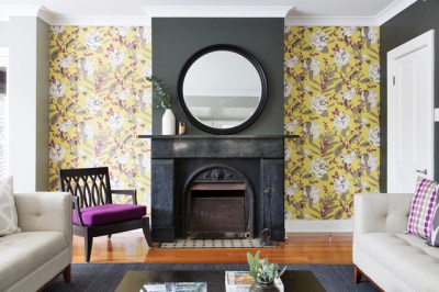 6 Ways to Highlight Your Fireplace With Wallpaper