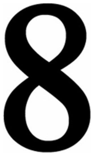 Village Wrought Iron, Inc. Village Wrought Iron Num, 8, S Small Number 8, Black - House Numbers ...