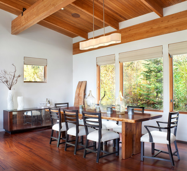 Modern Ski Chalet rustic-dining-room