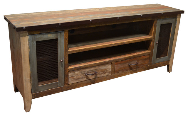Rustic TV Stand Media Center 76 Rustic Industrial Tv Stand D84