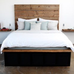 Contemporary Reclaimed Wood Bed With Storage Contemporary