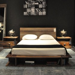 Reclaimed Wood Platform Beds Contemporary Bedroom Chicago