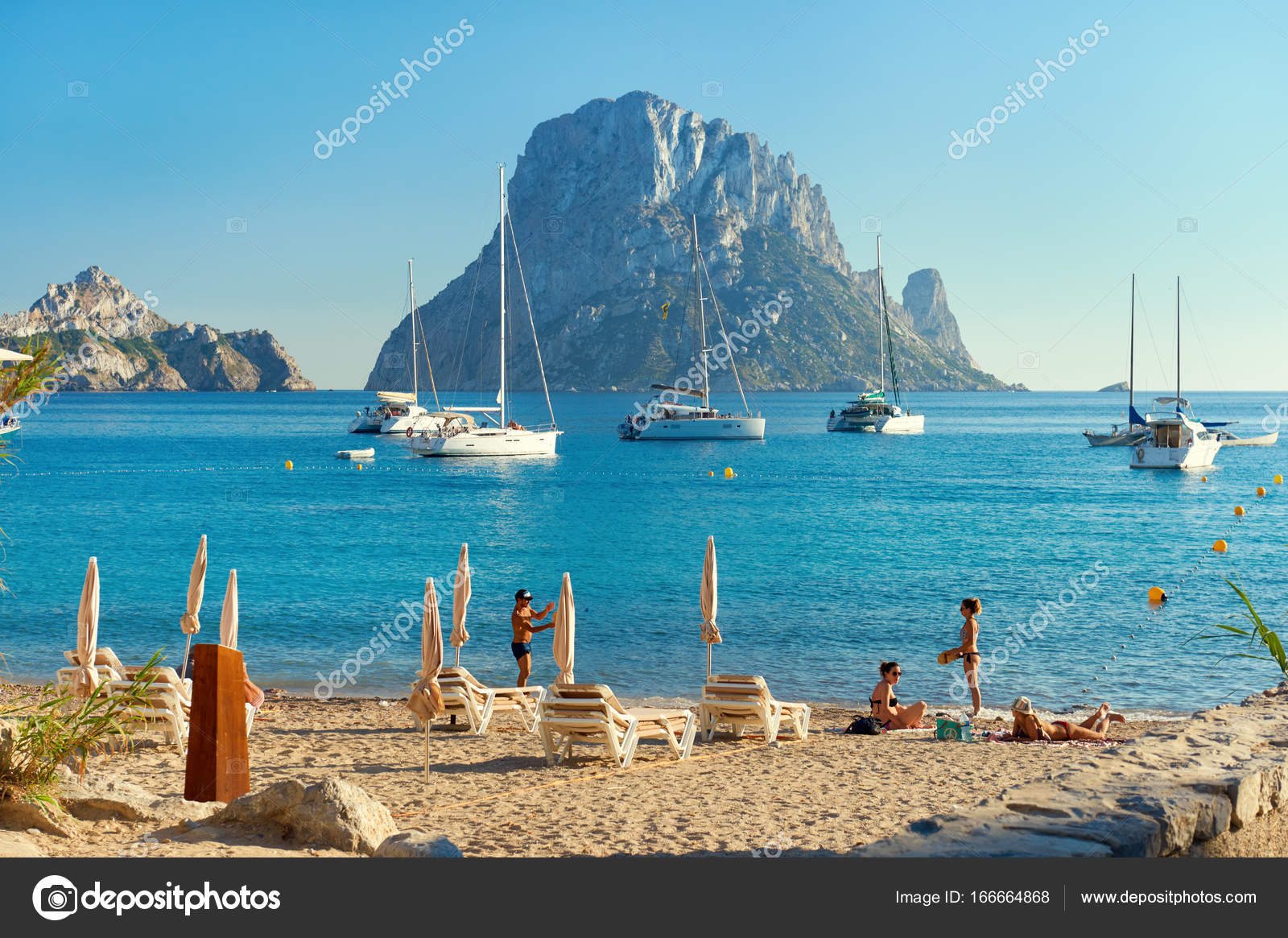 Cala d Hort beach  Ibiza Island     Stock Editorial Photo      amoklv     Ibiza Island     Stock Photo