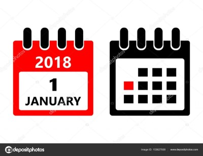 January 1. Vector flat daily calendar icon. Date and time, day, month. Holiday. — Stock Vector ...