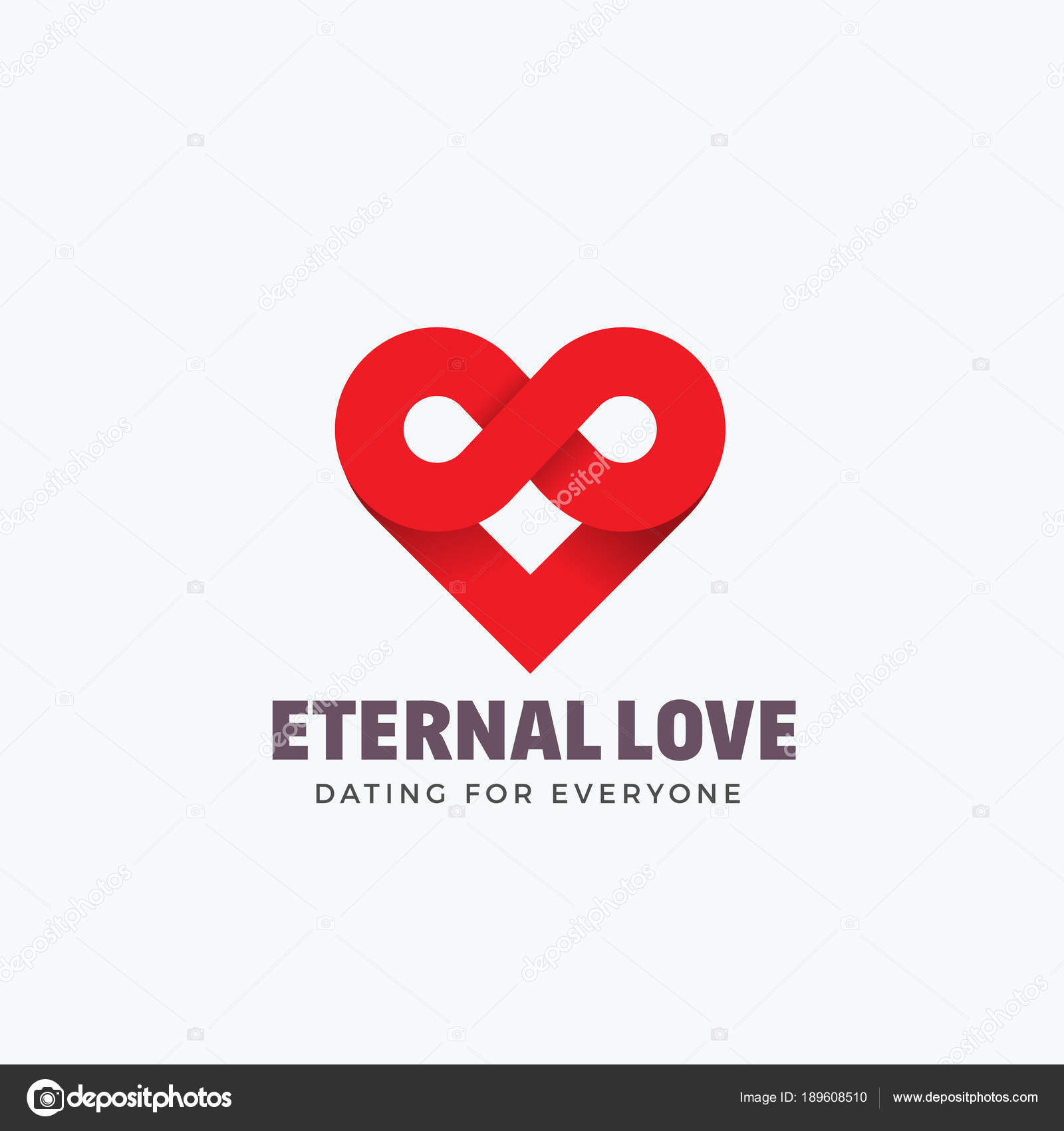 A Eternal Love Abstract Vector Sign Emblem Or Logo Template Infinity