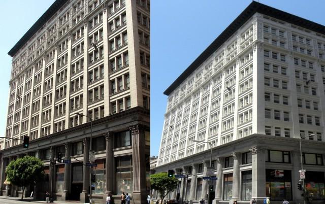 Edificio histórico en el centro de Los Ángeles (EEUU)