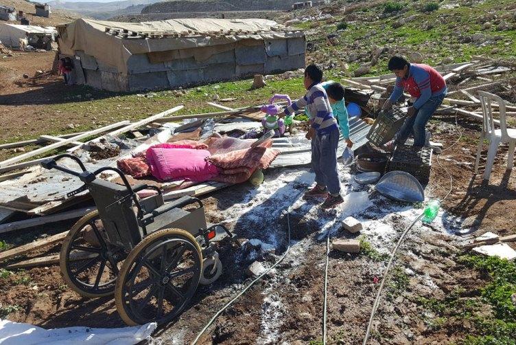 Israeli authorities demolishedBedouin homes in the vulnerable community of Abu Nwar, Area C, near EastJerusalem in the West Bank. Photo  UNRWA