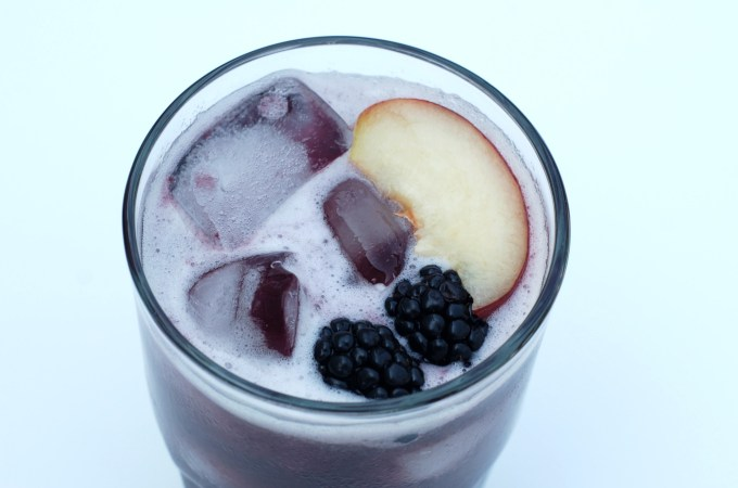 Blackberry and White Peach Cocktail