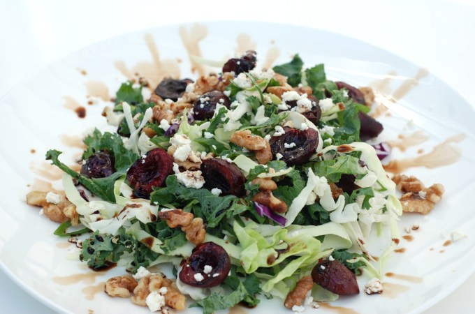 Grilled Cherry Salad- This ain't no ordinary salad!