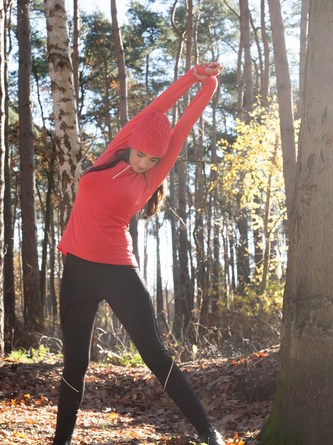 Stretching in the forest