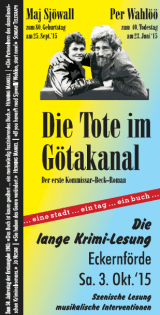 Flyer zur langen Krimi-Lesung am 3. Okt. in Eckernförde