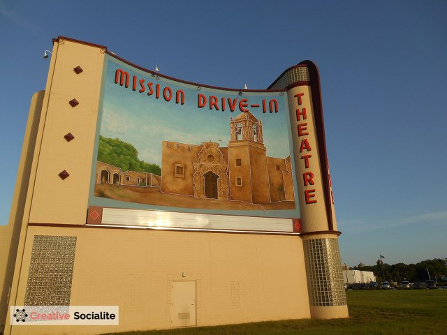 The Mission Marquee Plaza is the former drive-In theater next to Mission San Jose