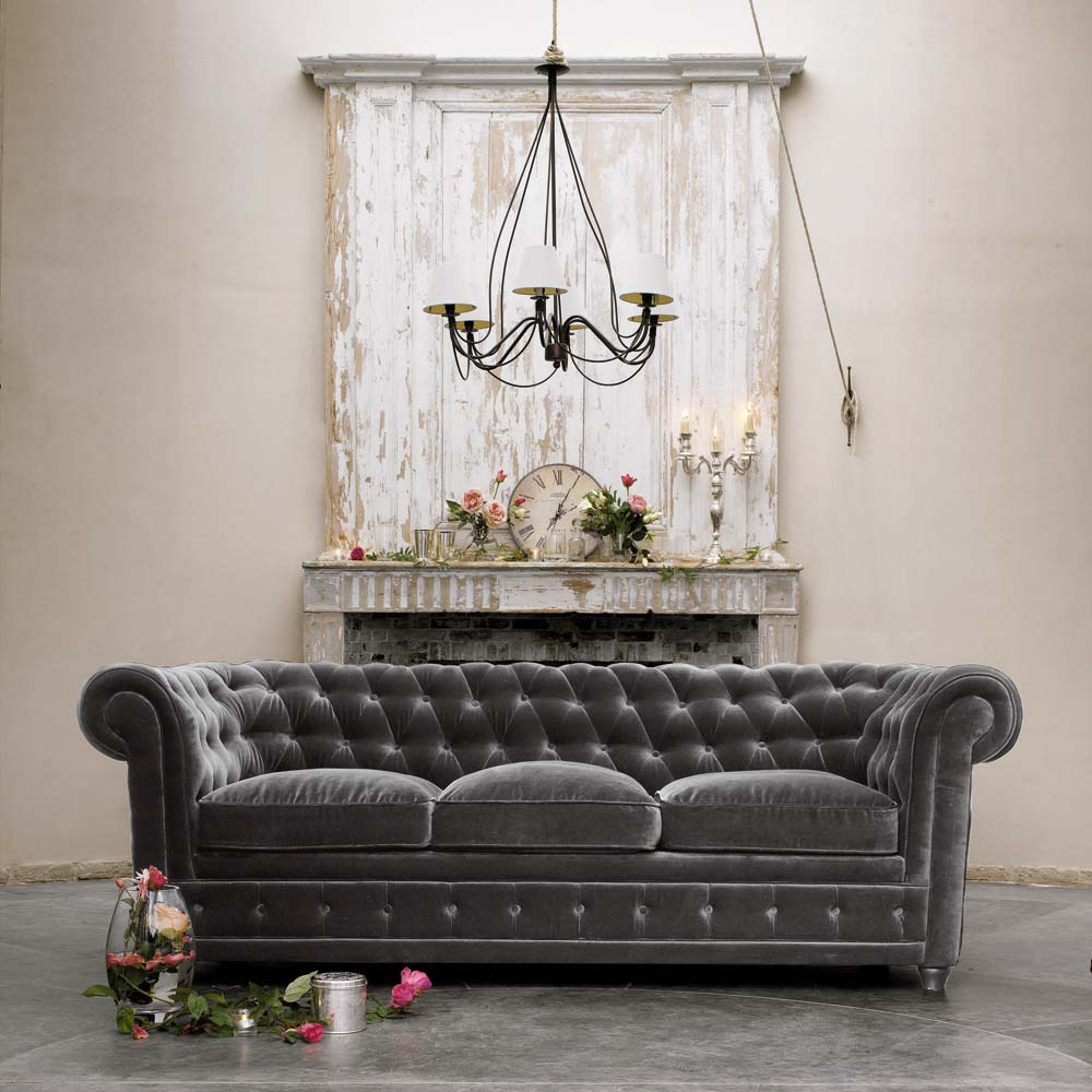 3-seat-grey-velvet-sofa-chesterfield-stained-couture