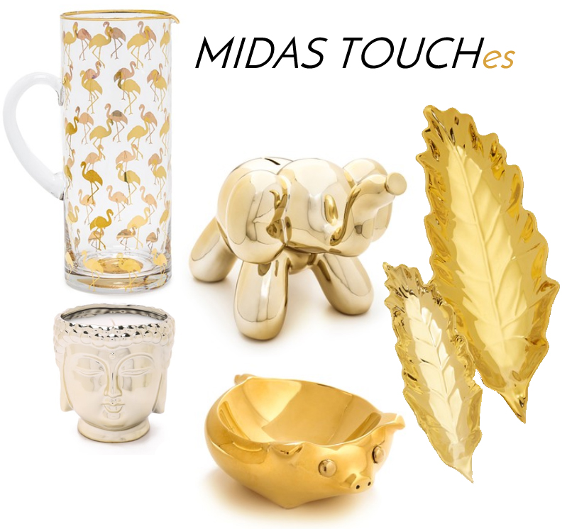 gold home decor accent pieces