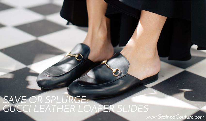 gucci leather loafer slides