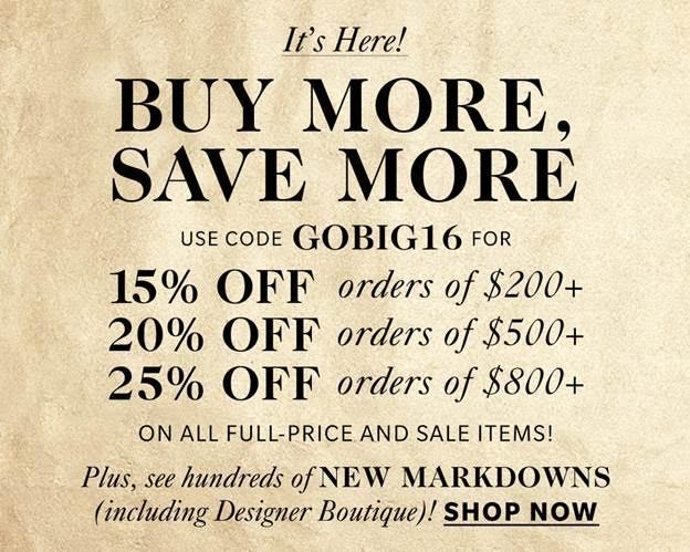 shopbop big sale 2016