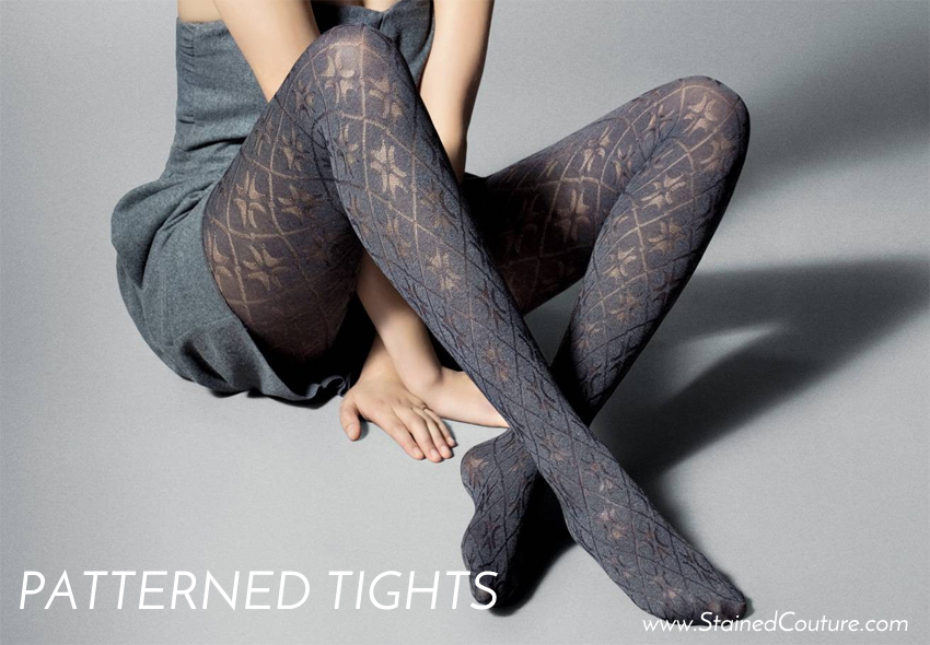 patterned tights stained couture