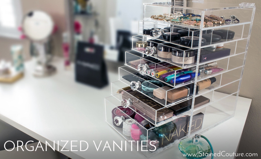 organized vanity areas
