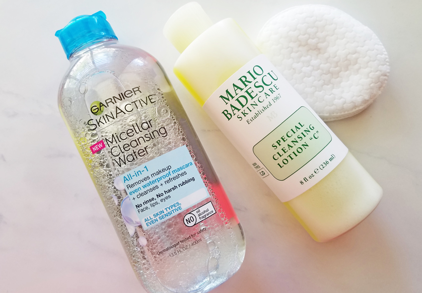 lazy ways to remove makeup micellar water and toner
