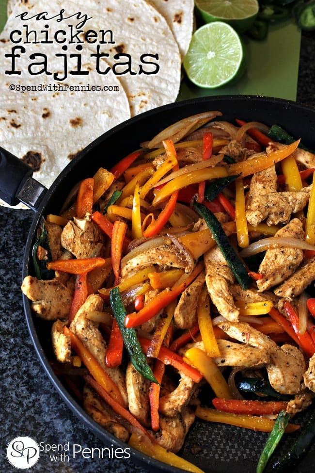 healthy cinco de mayo chicken fajitas