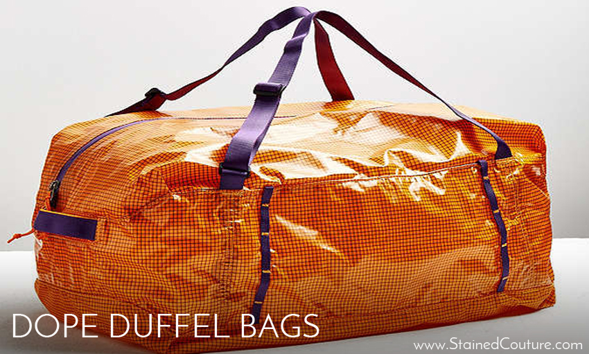 duffel bags stained couture