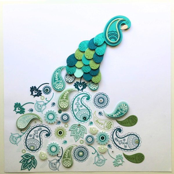 Stampin Up! Paisleys & Posies Peacock Art from StampinFool.com