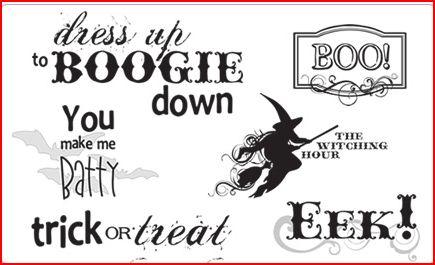 Freebie: Halloween Digital Word Art